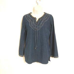 Tantrums Denim  Women's Long Sleeve Shirt Size M